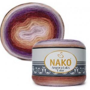 Fir de tricotat sau crosetat - Fire tip mohair acril NAKO ANGORA LUKS COLOR 81918