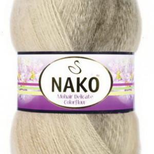 Fir de tricotat sau crosetat - Fire tip mohair acril NAKO MOHAIR DELICATE COLORFLOW DEGRADE 7309