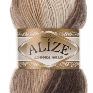 Fir de tricotat sau crosetat - Fire tip mohair din acril Alize Angora Gold Batik degrade 6779