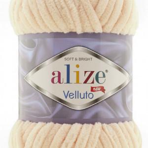 Fir de tricotat sau crosetat - Fire tip mohair din acril ALIZE VELLUTO CREAM 310