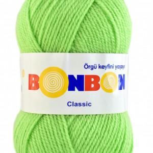 Fir de tricotat sau crosetat - Fire tip mohair din acril BONBON CLASIC VERNIL 98401