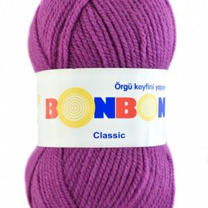 Fir de tricotat sau crosetat - Fire tip mohair din acril BONBON CLASIC MOV 98402