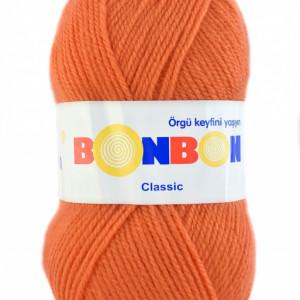 Fir de tricotat sau crosetat - Fire tip mohair din acril BONBON CLASIC PORTOCALIU 98323