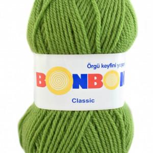 Fir de tricotat sau crosetat - Fire tip mohair din acril BONBON CLASIC VERDE 98204
