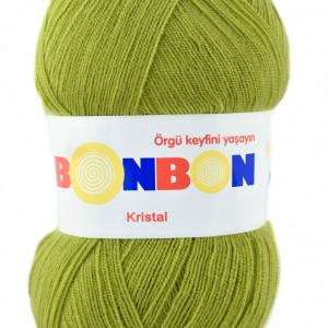 Fir de tricotat sau crosetat - Fire tip mohair din acril BONBON KRISTAL VERDE 98229