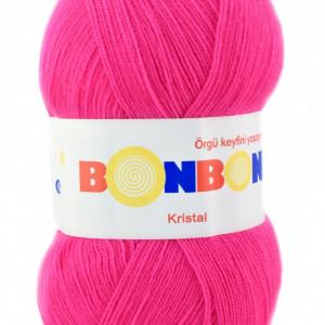 Fir de tricotat sau crosetat - Fire tip mohair din acril BONBON KRISTAL roz 98396