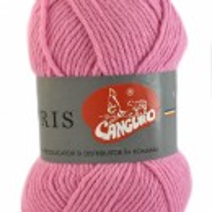 Fir de tricotat sau crosetat - Fire tip mohair din acril CANGURO - TRIS ROZ 305