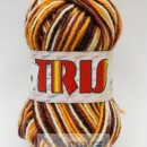 Fir de tricotat sau crosetat - Fire tip mohair din acril CANGURO - TRIS IMPRIMAT DEGRADE 373