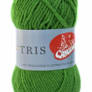 Fir de tricotat sau crosetat - Fire tip mohair din acril CANGURO - TRIS VERDE 325
