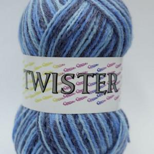Fir de tricotat sau crosetat - Fire tip mohair din acril CANGURO - TWISTER IMPRIMAT DEGRADE 357
