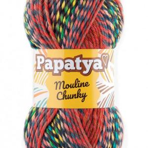 Fir de tricotat sau crosetat - Fire tip mohair din acril Kamgarn Papatya Mouline Chunky Degrade 5772