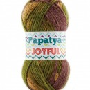 Fir de tricotat sau crosetat - Fire tip mohair din acril Kamgarn Papatya Joyful degrade 32