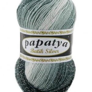 Fir de tricotat sau crosetat - Fire tip mohair din acril Kamgarn Papatya Silver Batik degrade 24
