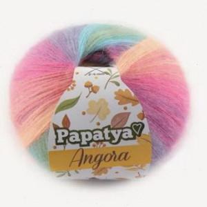 Fir de tricotat sau crosetat - Fire tip mohair din acril Kamgarn Papatya Angora degrade 11