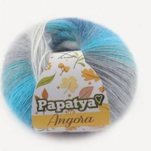 Fir de tricotat sau crosetat - Fire tip mohair din acril Kamgarn Papatya Angora degrade 83