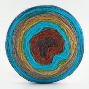 Fir de tricotat sau crosetat - Fire tip mohair din acril Kamgarn Papatya CAKE degrade 216