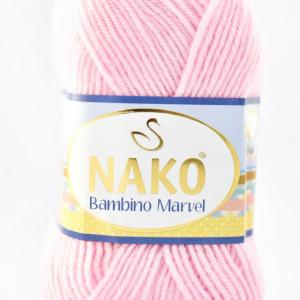 Fir de tricotat sau crosetat - Fire tip mohair din acril Nako Baby MARVEL ROZ 3661