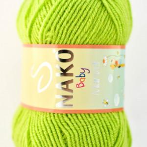 Fir de tricotat sau crosetat - Fire tip mohair din acril Nako Baby MARVEL VERNIL 11014