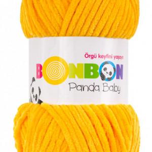 Fir de tricotat sau crosetat - Fire tip mohair din acril NAKO BONBON PANDA BABY GALBEN 3116
