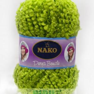 Fir de tricotat sau crosetat - Fire tip mohair din acril NAKO DERYA BOUCLE verde 6190