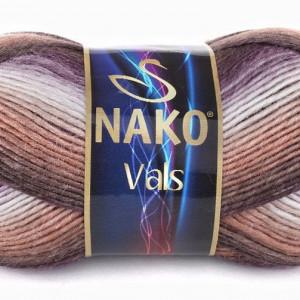 Fir de tricotat sau crosetat - Fire tip mohair din acril premium Nako VALS DEGRADE 85792