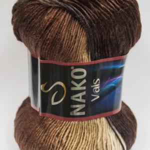 Fir de tricotat sau crosetat - Fire tip mohair din acril premium Nako VALS DEGRADE 86462