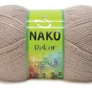 Fir de tricotat sau crosetat - Fire tip mohair din acril premium Nako REKOR BEJ 257