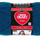 Fir de tricotat sau crosetat - Fire tip mohair din acril RED HEART LISA UNI ALBASTRU 8195
