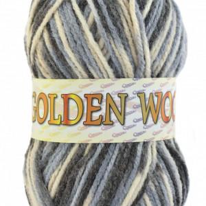 Fir de tricotat sau crosetat - Fire tip mohair din acril si lana GOLDEN WOOL IMPRIMAT - 376