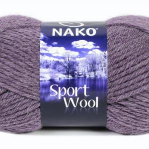 Fir de tricotat sau crosetat - Fire tip mohair din acril si lana Nako Sport Wool GRI 23331