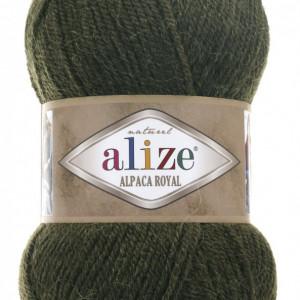 Fir de tricotat sau crosetat - Fire tip mohair din alpaca 30%, lana 15%, acril 55% Alize Alpaca Royal VERDE 567