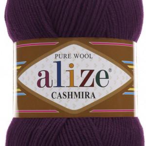 Fir de tricotat sau crosetat - Fire tip mohair din lana 100%, Alize CASHMIRA MOV 202
