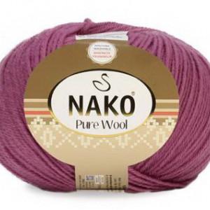 Fir de tricotat sau crosetat - Fire tip mohair din lana 100% Nako PURE WOOL ROZ 12350