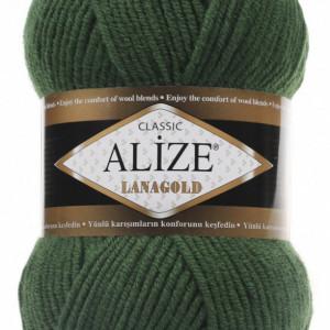 Fir de tricotat sau crosetat - Fire tip mohair din lana 49% si acril 51% Alize Lanagold Verde 118