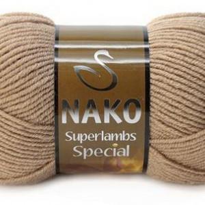 Fir de tricotat sau crosetat - Fire tip mohair din lana 50% si acril 50% Nako Superlambs Special BEJ 10439