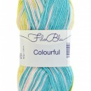 Fir de tricotat sau crosetat - Fire tip mohair din poliester Filo Blu - Colourful - 02 DEGRADE