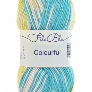 Fir de tricotat sau crosetat - Fire tip mohair din poliester Filo Blu - Colourful - 02 DEGRADE