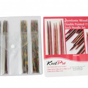 KnitPro SYMFONIE WOOD - set andrele pentru sosete - 20 cm