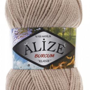 Fir de tricotat sau crosetat - Fir ACRILIC ALIZE BURCUM KLASIK BEJ 256
