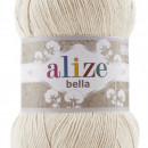 Fir de tricotat sau crosetat - Fir BUMBAC 100% ALIZE BELLA 100 - CREAM 737
