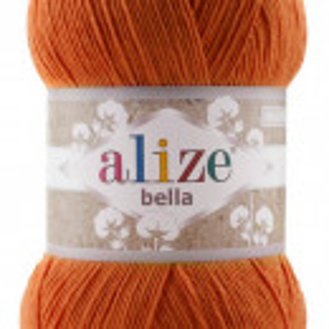 Fir de tricotat sau crosetat - Fir BUMBAC 100% ALIZE BELLA 100 - PORTOCALIU 89