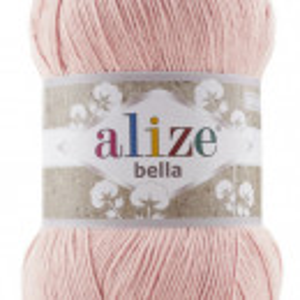 Fir de tricotat sau crosetat - Fir BUMBAC 100% ALIZE BELLA 100 - PUDRA 613