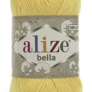 Fir de tricotat sau crosetat - Fir BUMBAC 100% ALIZE BELLA - GALBEN 110