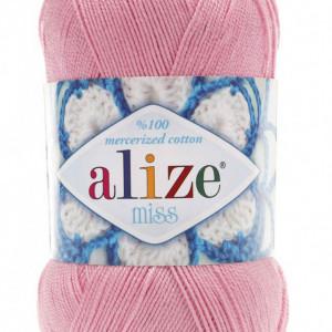 Fir de tricotat sau crosetat - Fir BUMBAC 100% ALIZE MISS ROZ 170