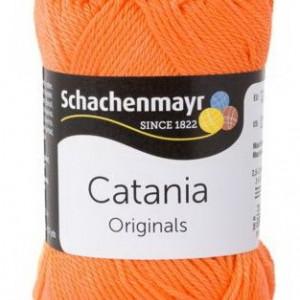 Fir de tricotat sau crosetat - Fir BUMBAC 100% MERCERIZAT CATANIA PORTOCALIU 386