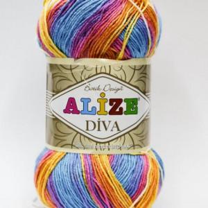 Fir de tricotat sau crosetat - Fir microfibra ALIZE DIVA BATIK DEGRADE 4538