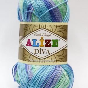 Fir de tricotat sau crosetat - Fir microfibra ALIZE DIVA BATIK DEGRADE 1767