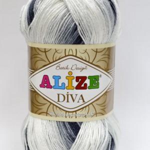 Fir de tricotat sau crosetat - Fir microfibra ALIZE DIVA BATIK DEGRADE 1900