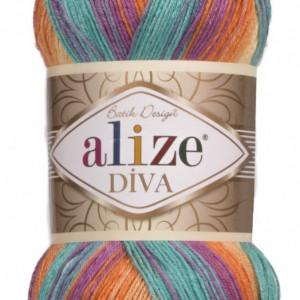 Fir de tricotat sau crosetat - Fir microfibra ALIZE DIVA BATIK DEGRADE 7074