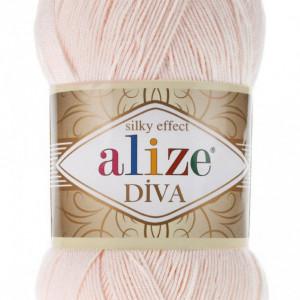 Fir de tricotat sau crosetat - Fir microfibra ALIZE DIVA BEJ 382